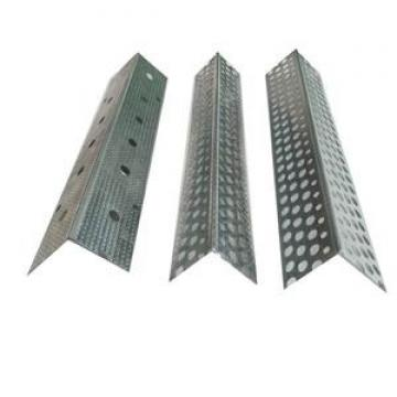 Perforated wall angle for drywall partition/ceiling system